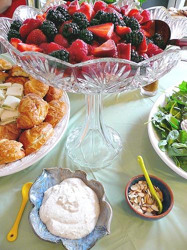 Spring Berries & Cannoli Cream
