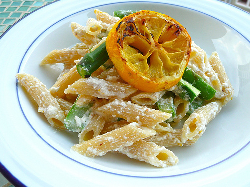 meyer lemon ricotta penne with asparagus 4 oz penne pasta 1 meyer ...