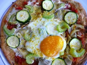 Mexican Socca Pizza