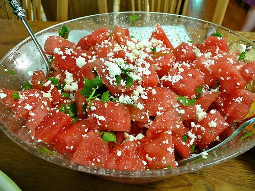 watermelon salad watermelon salad with feta or cotija watermelon salad ...
