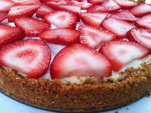 Strawberry Smoky Almond Tart