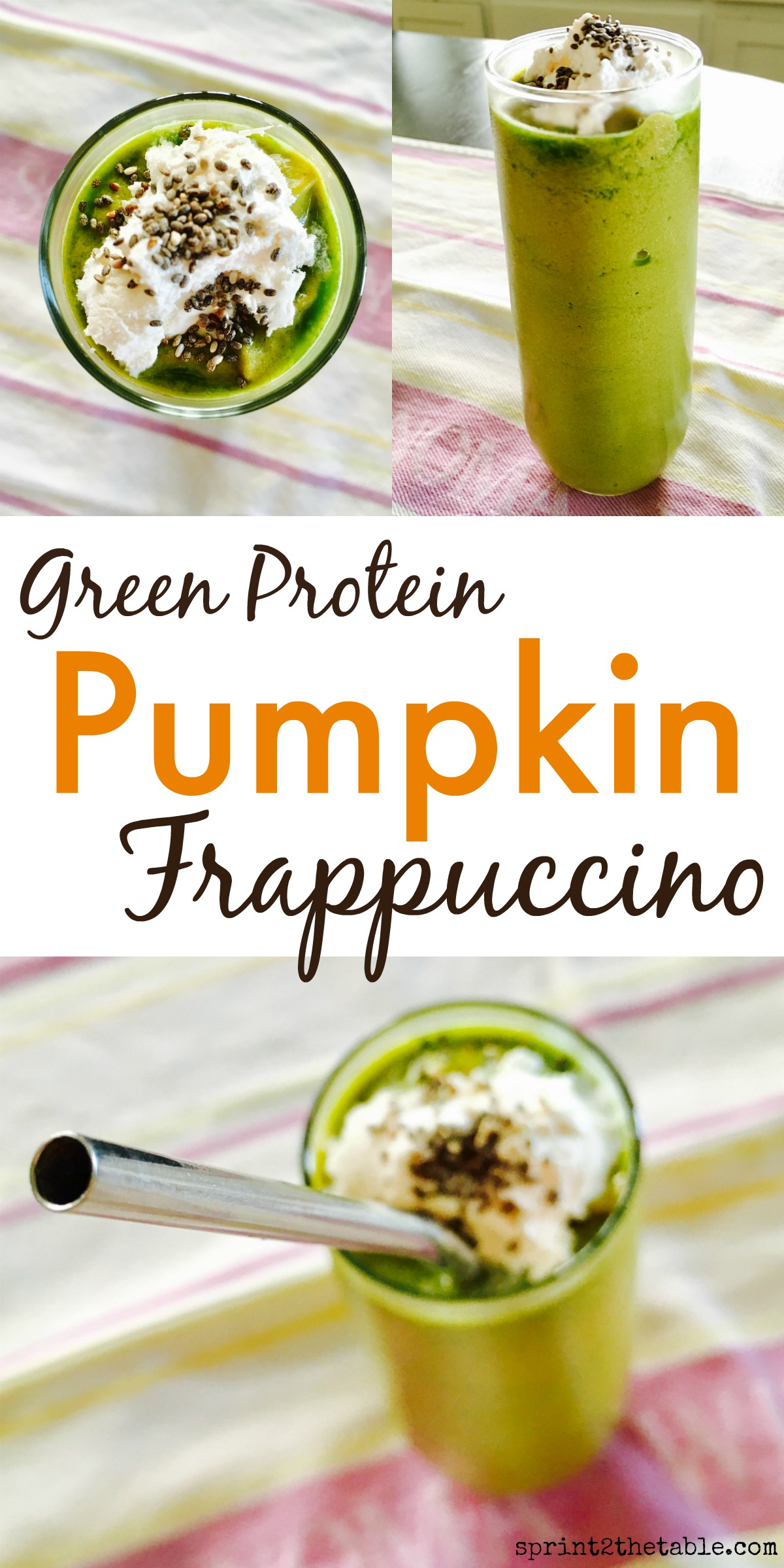 This protein-filled Pumpkin Frappuccino is perfect a post-workout snack any time of year!