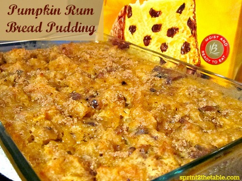 Pumpkin Rum Bread Pudding