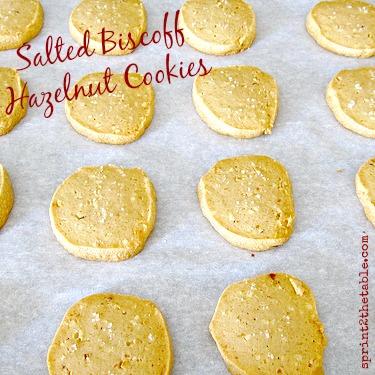 Salted Biscoff Hazelnut Cookies