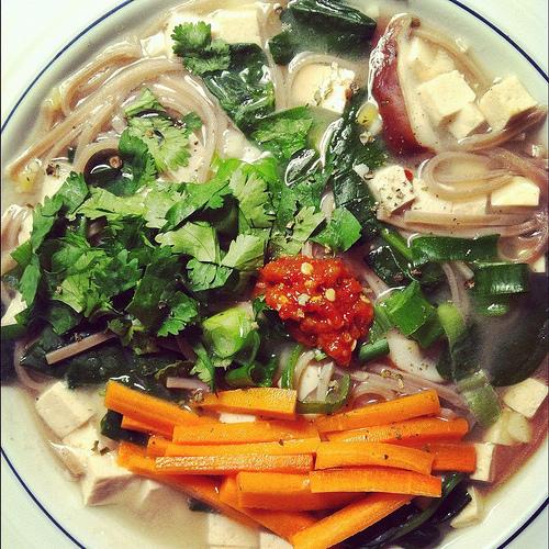 spinach shiitake miso soup 3 oz soba noodles 4 c water 1 c shiitake ...