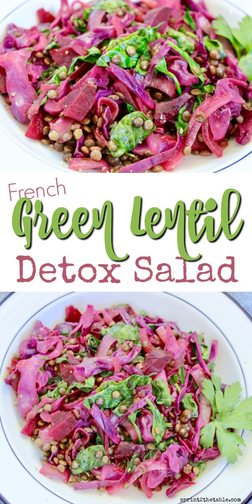This French Green Lentil Detox Salad is packed full of detoxifying ingredients like beets, cabbage, and parsley.  It's a great way to renew and rejuvenate your body naturally.
