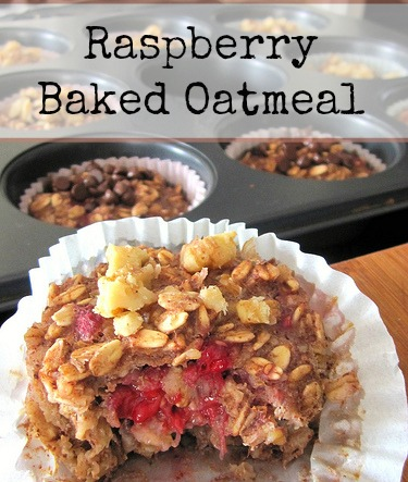 These baked oatmeal bites can be made in advance and frozen for a quick breakfast or snack.  All you have to do is grab one or two from the freezer and pop it in the microwave to defrost!