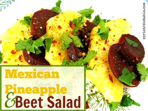 Mexican Pineapple & Beet Salad