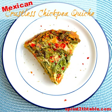 Mexican Crustless (Vegan) Quiche