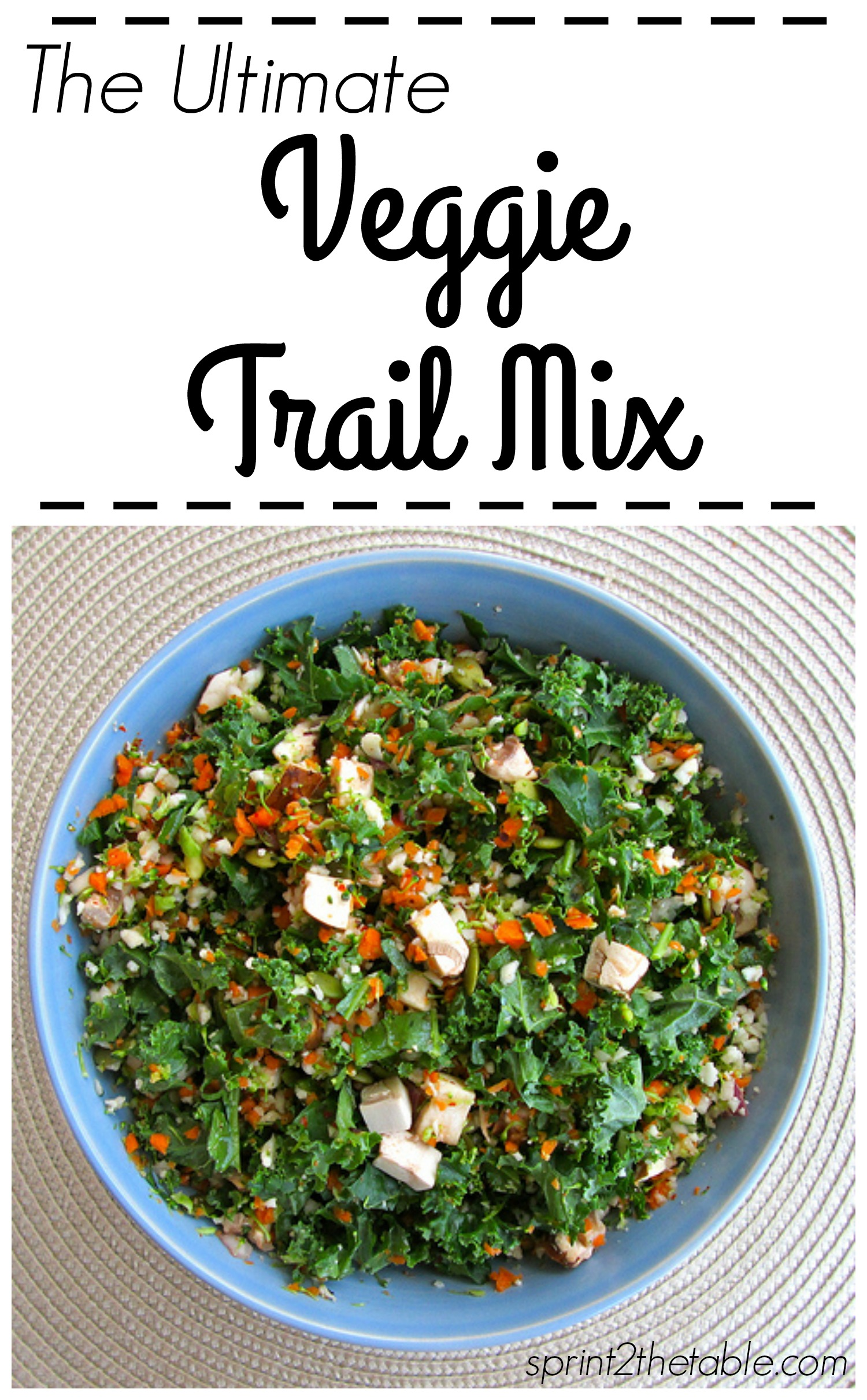 The Ultimate Veggie Trail Mix - this might be the healthiest thing you could put in your mouth!