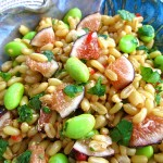 Fig and Edamame Kamut Salad
