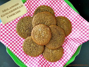 Molasses Gingerbread Cookies