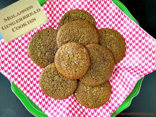 Molasses Gingerbread Cookies