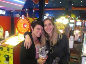 Jaime and I a couple years ago at Dave & Busters