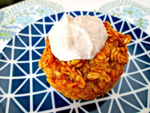 Sweet Potato Baked Oatmeal with Icing