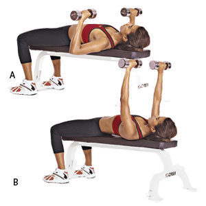 flat dumbbell bench press