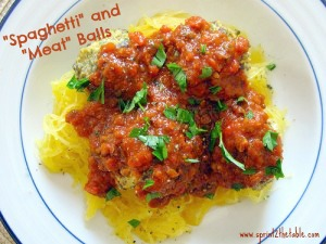 "Spaghetti Squash and ""Meat"" Balls"