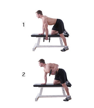 one arm rows