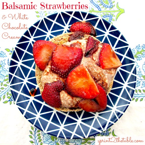 Balsamic Strawberries and White Chocolate Cream