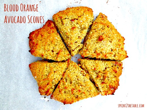 Blood Orange Avocado Scones