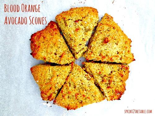 Blood Orange Avocado Scones