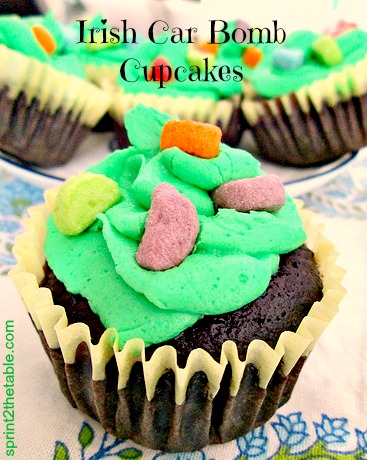 Irish Car Bomb Cupcakes - a St. Patricks' Day tradition!
