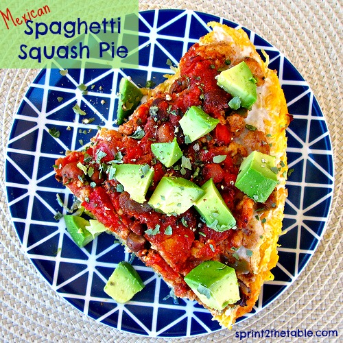 Mexican Spaghetti Squash Pie