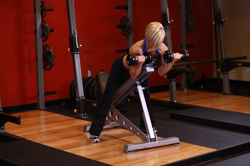 Prone Curls incline bench
