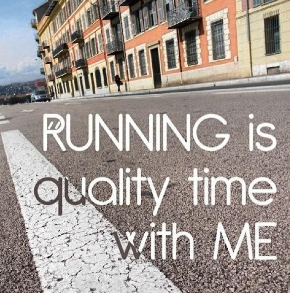 Running is my quality time