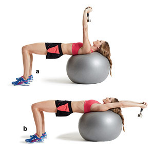 Stability ball pullovers