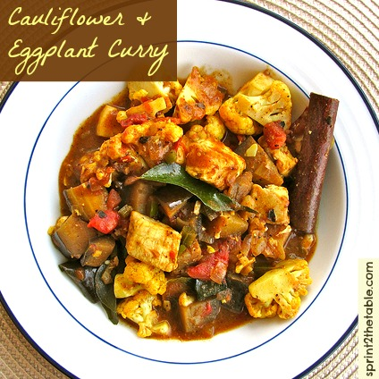 Cauliflower Eggplant Curry