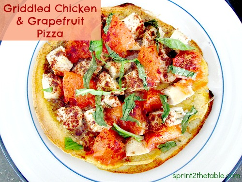 Griddled Chicken & Grapefruit Pizza