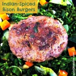 Indian Spiced Bison Burgers