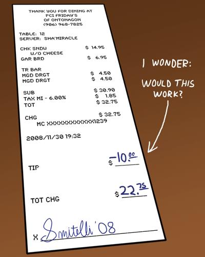 bad service negative tip