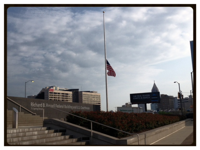 The Federal Courthouse Flag on Wednesday, 4/17
