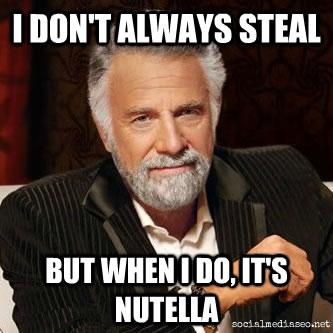 nutella stolen