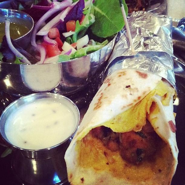 Chai Pani tandoori fish wrap