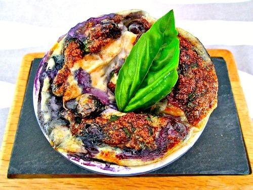 Blueberry-Basil Cottage Cheese Egg Bake