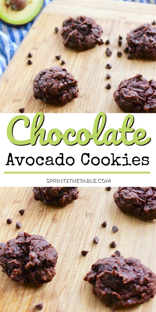 Chocolate Avocado Cookies sound a little strange, but you'd never guess avocado is hiding in here.  Best of all, these 50 calorie cocoa cookies are sugar-free, gluten-free, and paleo-friendly!