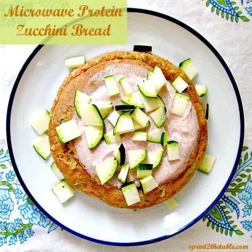 Microwave Protein Zucchini Bread