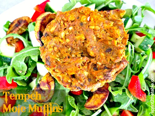 Tempeh Mole Muffins
