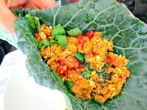 Butternut Collard Tomato Wrap 1