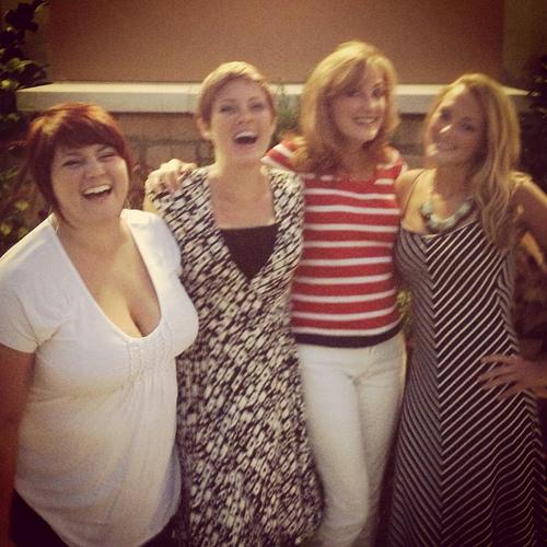 Mallory, me, Mom, and Madison
