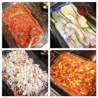 Zucchini Lasagna assembly