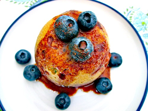 Blueberry Thyme Protein Cake w syrup 1