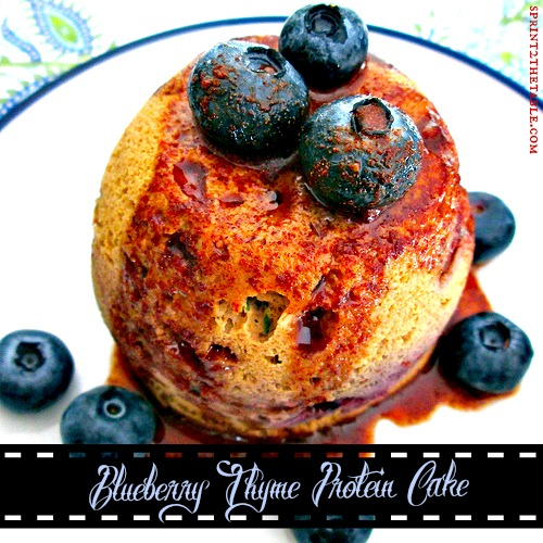 Blueberry Thyme Protein Cake w syrup