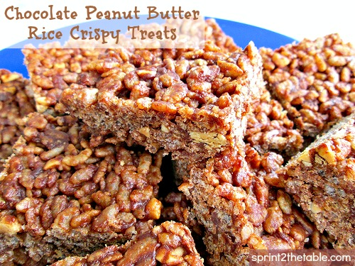 Chocolate Peanut Butter Rice Crispy Treats