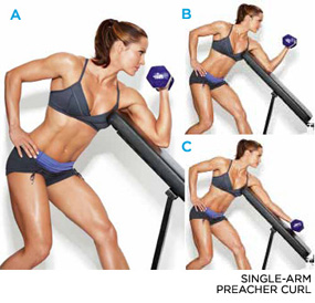 Single Arm Preacher Curl