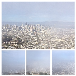 San Francisco From Twin Peaks – check out how the fog opens up!