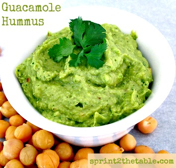 ... Hummus below, and then hop on over to her blog for my Guacamole Hummus